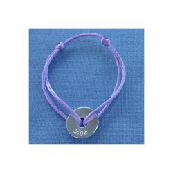 Bracelet Médaille Enfant en argent Little Isabelle à personnaliser
