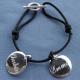 Bracelet Femme Victoria deux médailles à personnaliser