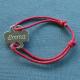 Bracelet Enfant Maldives Médaille trèfle argent à personnaliser