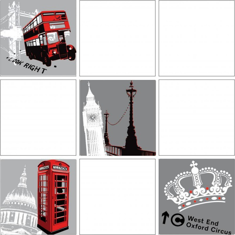 Stickers pour carrelage mural london sticker fabriqu en for Stickers pour carrelage mural