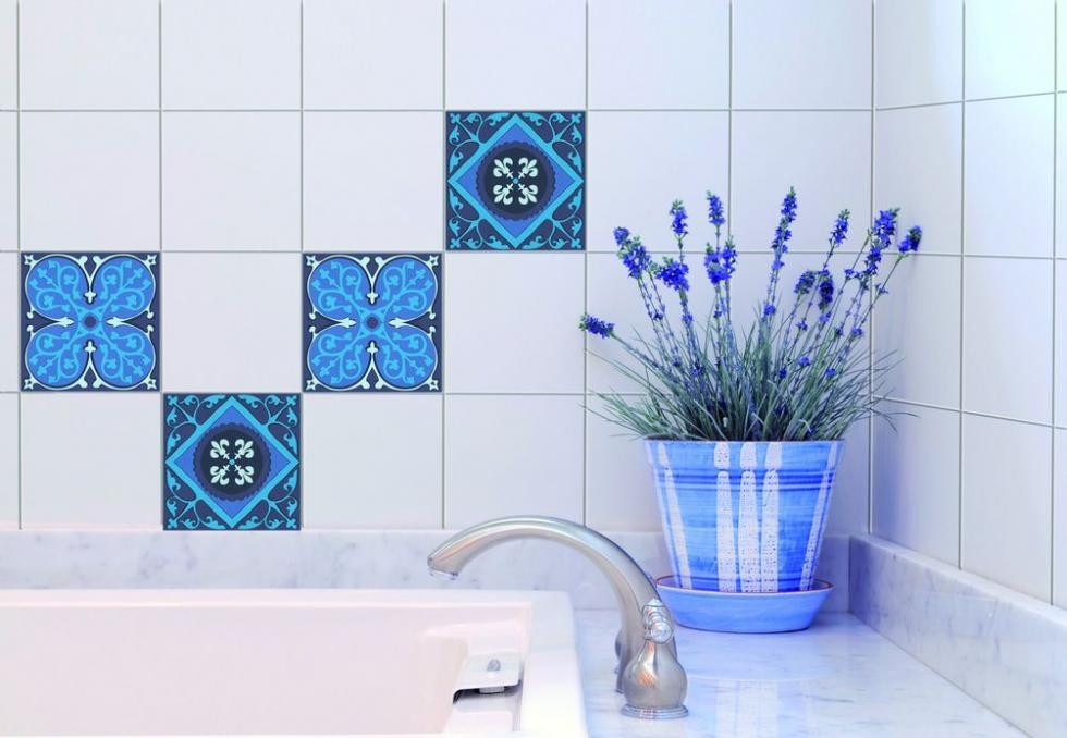 Carrelage salle de bain stickers for Carrelage faience mural cuisine