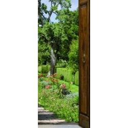 Sticker de portes trompe l'oeil Mon jardin