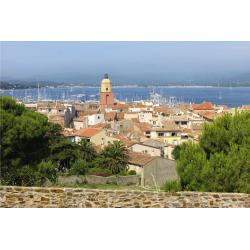 """Sticker Mur d'Image """"Vue de Saint-Tropez"""""""