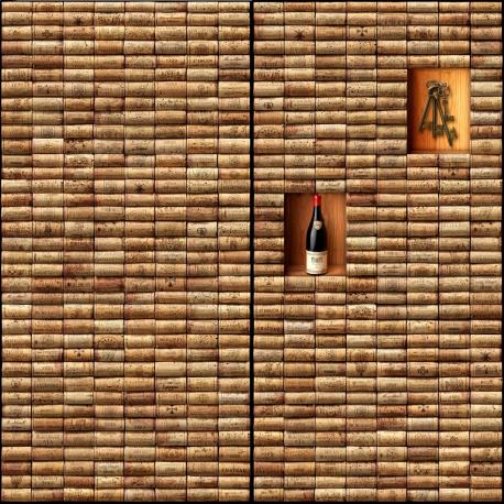 """Sticker Mur d'Image """"Mur de bouchons - 1"""""""