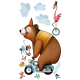 Sticker enfant - Le Cirque - Ménagerie en roue libre