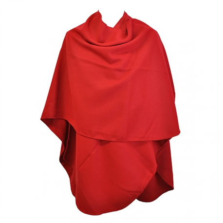Grand Poncho Rouge arrondi