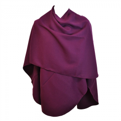 Grand Poncho Violet arrondi