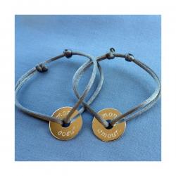 Bracelet Duo DISQUE personnalisable