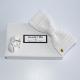 coffret noeud papilllon et boutons de manchettes en crochet blanc diamant made in Paris