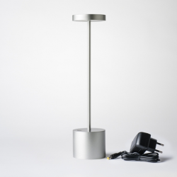 Lampe de table sans fil à Led Modèle Luxciole Chrome satin