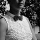 Nœud papillon gris truffe au crochet made in Paris