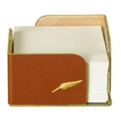 Bloc Cube en cuir gamme Windsor personnalisable