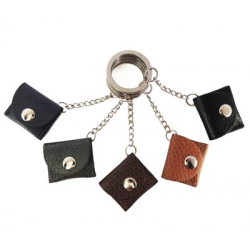 Porte-clés Caddie personnalisé en cuir Classique