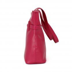 "Sac à main en cuir personnalisable modèle ""Amélie"" fuchsia 2"