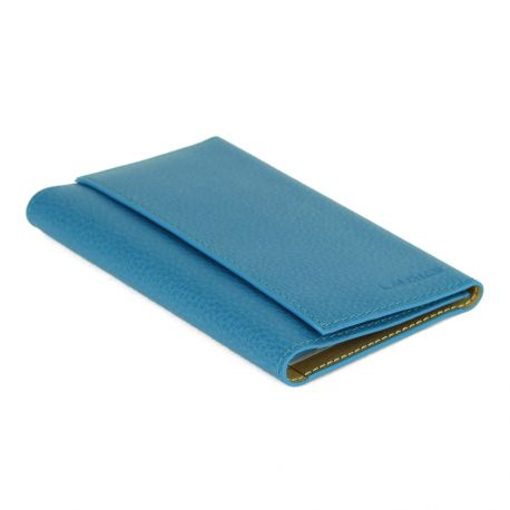 """Porte-papiers de voiture en cuir gamme """"Les Modernes"""" turquoise 1"""