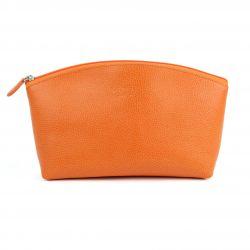 Trousse de voyage en cuir pour Femme orange 4