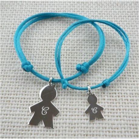 Bracelet Duo Médaille Bébé calin à personnaliser
