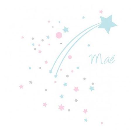 "Sticker ""Étoile filante bleue"""