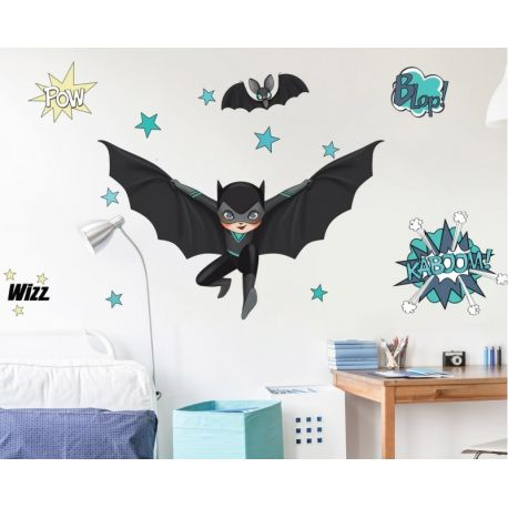 Sticker Super Héros Black & Bat