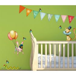 Sticker enfant - Circus volant
