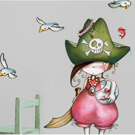Sticker enfant - Pirata debout