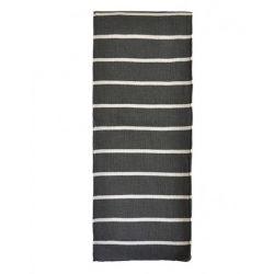 Echarpe laine made in France à rayures grises argentées