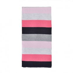 Echarpe en laine Rugby Gris et rose