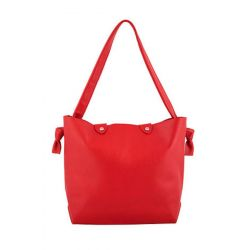 Sac cabas Bonnie Small cuir lisse rouge