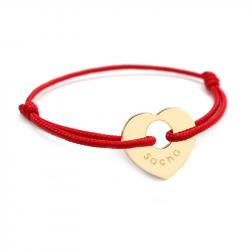 Bracelet personnalisé plaqué or Cœur de Peau