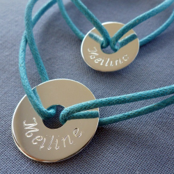 Bracelet Duo Médaille Bébé douceur à personnaliser