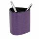 Pot rangement crayon triangulaire en cuir à personnaliser