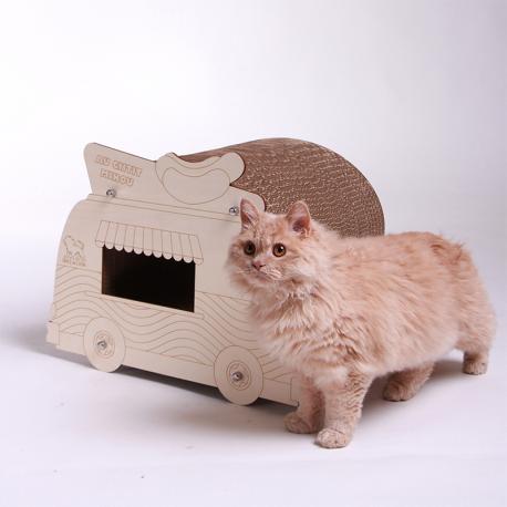 """Loge Griffoir chat design """" Camion Frites"""" éco-responsable"""