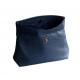 Pochette en cuir lisse Bleu Marine 3 tailles