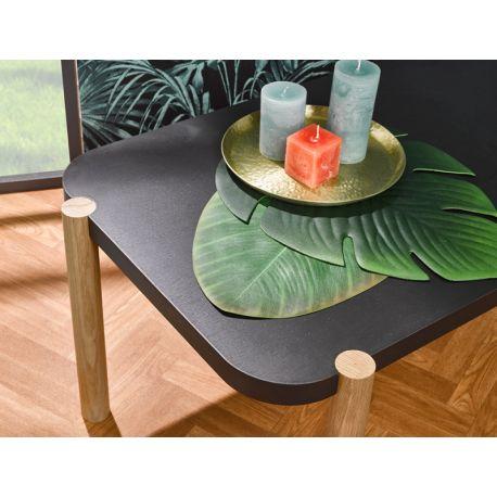 Table Basse Design Made in France - Chêne naturel et fumé