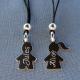 Collier mixte Tasmania avec pendentif en argent à personnaliser