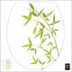 Sticker pour abattant WC Bambou
