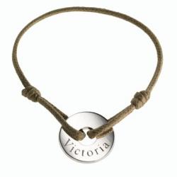 Bracelet Médaille Petite Chérie en argent à personnaliser