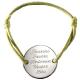 Bracelet Médaille Family en argent à personnaliser